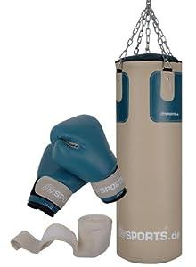 ScSPORTS DG04 Box-Set für Erwachsene Boxsack Boxhandschuhe Boxbandagen 25 kg...