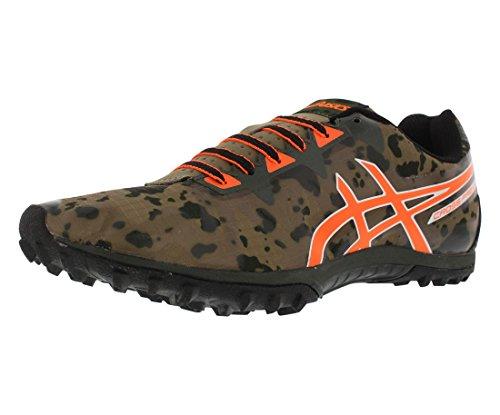 ASICS Men's Freak 2 Cross-Country Running Shoe, Dusky Green/Hot Orange/Duffel Bag, 9.5 M US