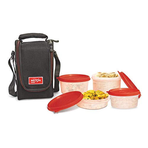 Milton Full Meal 4 Containers Lunch Box   Black
