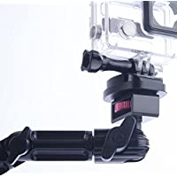Headrest Car Mount For GoPro - by TACKFORM [Enduro Series] Rock solid autocross and track day mounting solution. Fully adjustable heavy duty ALUMINUM construction.