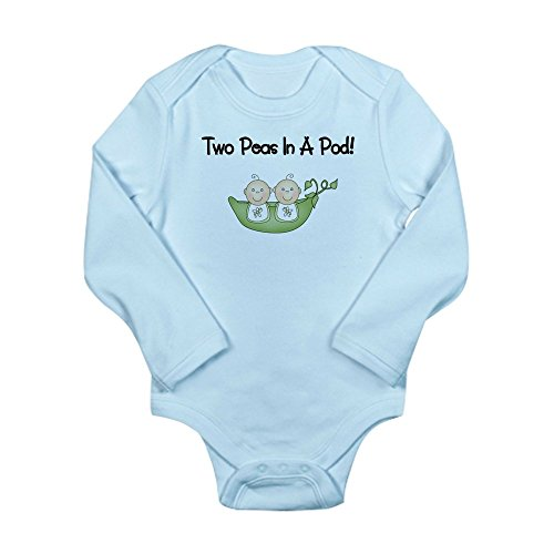 CafePress - Two Peas in A Pod Twins Body Suit - Cute Long Sleeve Infant Bodysuit Baby -
