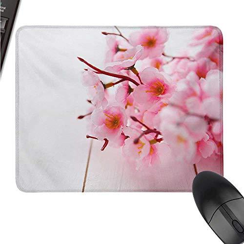 (ZJ66dzmt Floral logitech Gaming Mouse padsize Cherry Blossom Petals Spring Season Florets in Soft Pastel Tones Art Print W8xL9.5(inch))