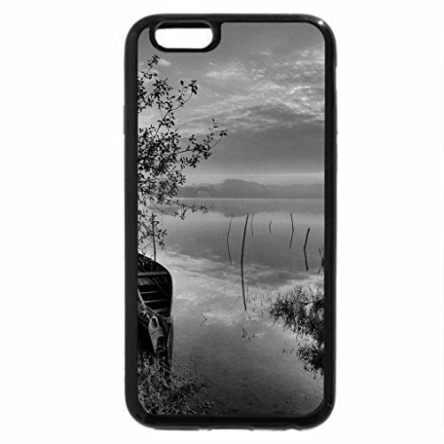 iPhone 6S Plus Case, iPhone 6 Plus Case (Black & White) - Lake at sunrise