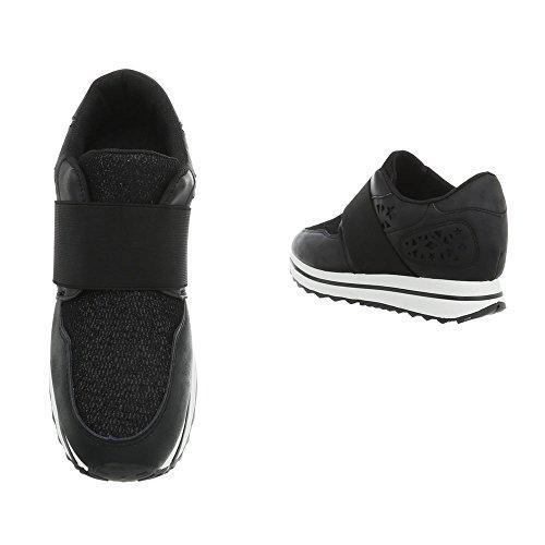 Plano Zapatillas Ital Zapatillas Bajas Zapatos Fan5867 Negro Mujer Design para v4wfK67qBf
