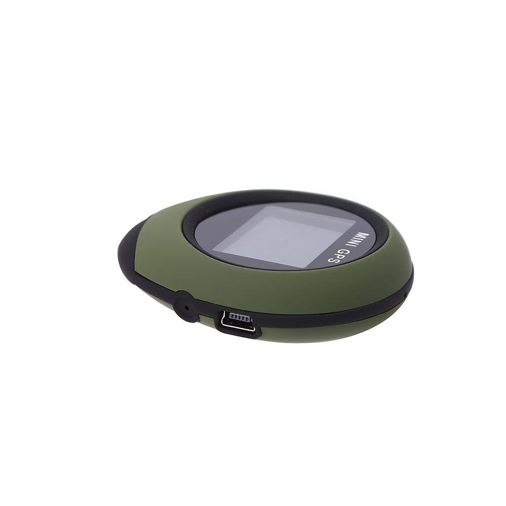 Mini Tracker Localisation Localisateur Main Navigation GPS avec Kay Chain USB Rechargeable pour la randonn/ée en Plein air Voyager Exploration Sauvage VGEBY Mini r/écepteur GPS