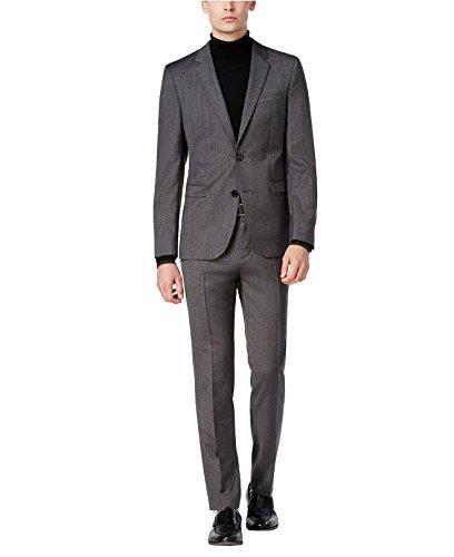 Hugo Boss Astian/Hets Extra Slim Fit 2 Piece Men's 100% Virgin Wool Suit Melange Herringbone 50320624 033 by HUGO (46 Regular USA Jacket / 40 Waist Pants) by HUGO BOSS (Image #6)