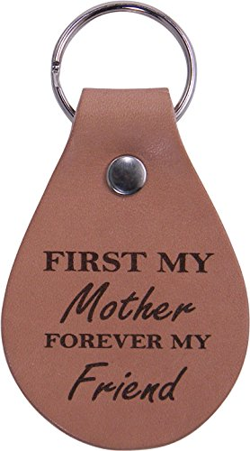 Price comparison product image First My Mom Forever My Friend Leather Key Chain - Great Gift for Mothers's Day Birthday or Christmas Gift for Mom Grandma Wife