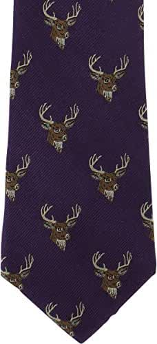 Purple Deer Silk Tie by Michelsons of London