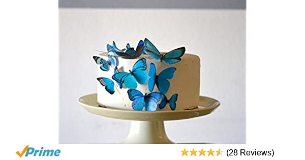Teal Crafts 12 Pack Butterflies Weddings 5 to 6 cm Cakes Cards,