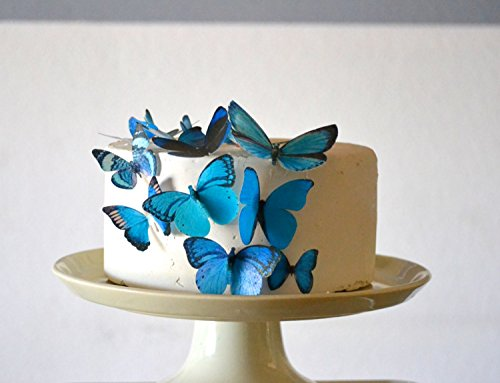 Assorted Blue Set of 15 - Cake and Cupcake Toppers, Decoration ()