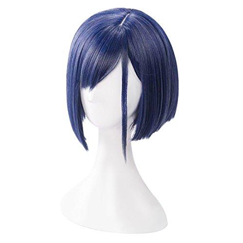 C-ZOFEK DARLING in the FRANXX Ichigo Wig 015 Cosplay Girls Short Asymmetric Party Hair (Blue)]()