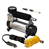 Portable Air Compressor, Hausbell Air Compressor Kit Mini DC12V Multi-Use Oil-Free Air Tools Tire Inflator (2 Pack)