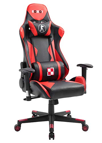 AOMOY Gaming Chair for Adults,Ergonomic Swivel Racing Chair Adjustable High Back Computer Office Chair with Headrest and Lumbar Support(red) AOMOY