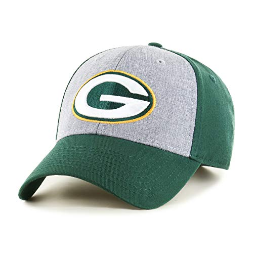 - OTS NFL Green Bay Packers Male Essential All-Star Adjustable Hat, Dark Green, One Size