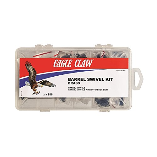Brass Eagle Barrels (Eagle Claw RX-BRLBRSKIT Brass Barrel Swivel Kit with 186Piece)