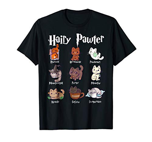 Hairy Pawter Cute Potter Cats T-Shirt For Women ()