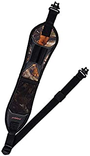 BOOSTEADY Rifle Sling Gun Shoulder Padded Strap Two Point Gun Sling with Swivel,Alloy Length Adjuster Shell Lo