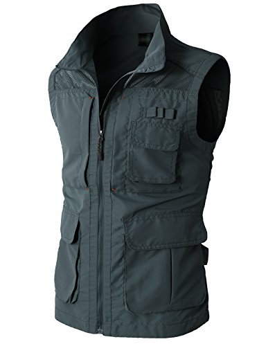 Sport Utility (H2H Mens Casual Work Utility Hunting Travels Sports Vest With Multiple Pockets,KMOV080-CHARCOAL,US XL (Asia)