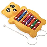 Busy Kid Panda Xylophone - Two in One Musical Toy, Xylophone + Pull Along Toy for 1 Year Above