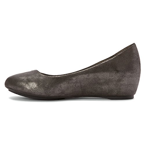 Anche Io Womens Jasmin Wedge Pump Black Lead