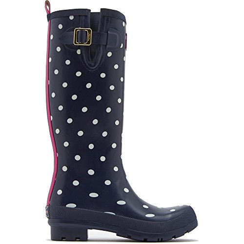 Joules Wellyprint  - Botas de goma para mujer Navy Spot