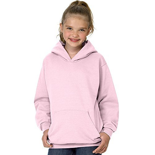 Hanes Youth ComfortBlend EcoSmart Pullover Hoodie_Pale Pink_L