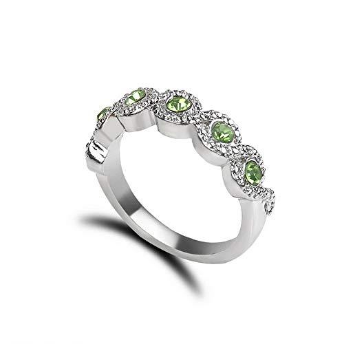 (Monowi Women Fashion Ruby Gemstone White Gold Jewelry Ring Wedding Engagement Size 6-10   Model RNG - 6750   6)