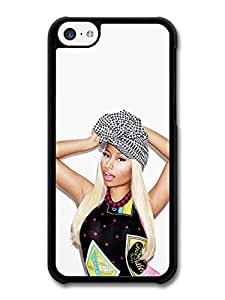 Nicki Minaj Portrait Posing with a Hat case for iPhone 5C