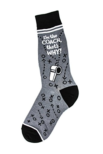 Foot Traffic - Men's Socks, I'm the Coach (Animal That Starts With M)