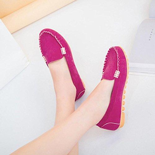 Sommer Outdoor Rot Pfirsich Geschlossen Elastisch Damen Stoff Sandalen Flach Comfort Schuhe Mädchen Elegant Ansenesna Sommerschuhe RZ6xqESPSw