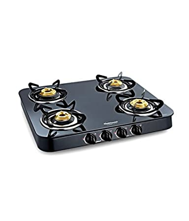 Sunflame 4B-SS-Ai Crystal Plus-Toughened Glass Cooktop