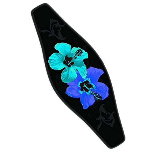 Innovative Strap Wrapper Neoprene Mask Strap Cover Blue Hibiscus