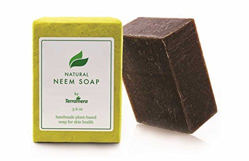 Terramera Neem Soap For Eczema and Psoriasis Relief - Unique Soothing Action for Dry, Irritated Skin - Relieves and Heals Dry, Cracked Skin, Soothes Insect Bites