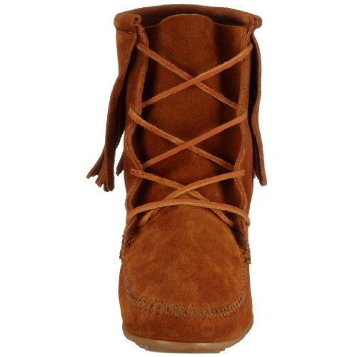 Minnetonka Tramper Damen Kurzschaft Mokassin Boots Braun (Dusty Brown)
