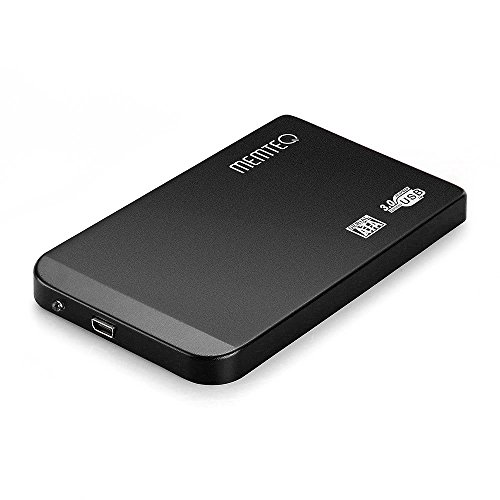 MEMTEQ® USB3.0 SATA HDD Hard Drive Disk Enclosure, 2.5 inch Hard Drive External Case Box Enclosure - Black
