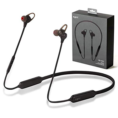 SGNL HB-N50 Bluetooth V4.1 Earbuds/in Ear Headphones - Active Noise Cancelling & Open Ear Control Switch Options Earphones | Wireless Up to 13 Hours Playback | Rich Bass, Best HD Stereo Sound