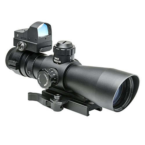 NcSTAR STP3942G Combo 3-9x42 P4 Sniper Scope Plus Micro Green Dot DGAB Plus Adapter Mount MRD34 (Ncstar Mark Iii Tactical P4 Sniper 3 9x42)