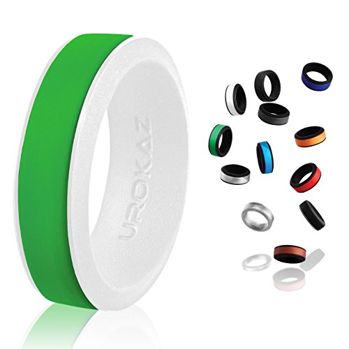 Marquise Baguette Solitaire - UROKAZ - Silicone Wedding Ring, The Only Ring That Fits Your Lifestyle - Whether You are Single or Married, Ring is Right for You - It is Fashionable, Flexible, and Comfortable