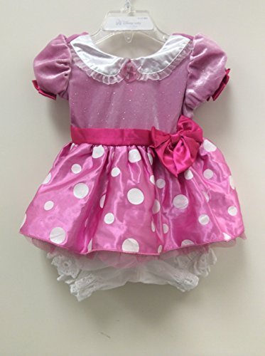 (Disney Store Minnie Mouse Pink Costume Dress Size 6-12)