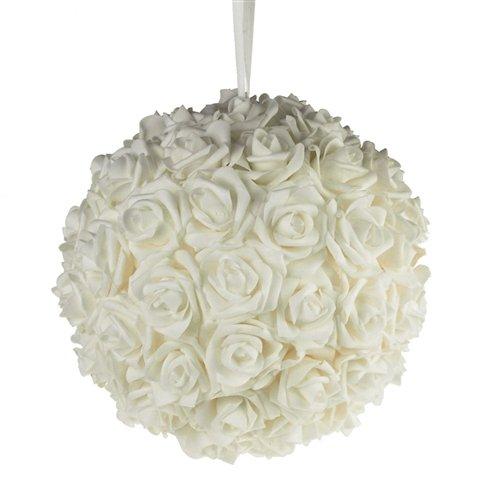 Homeford FNS008565WHT Soft Touch Foam Kissing Ball Wedding Centerpiece, 12