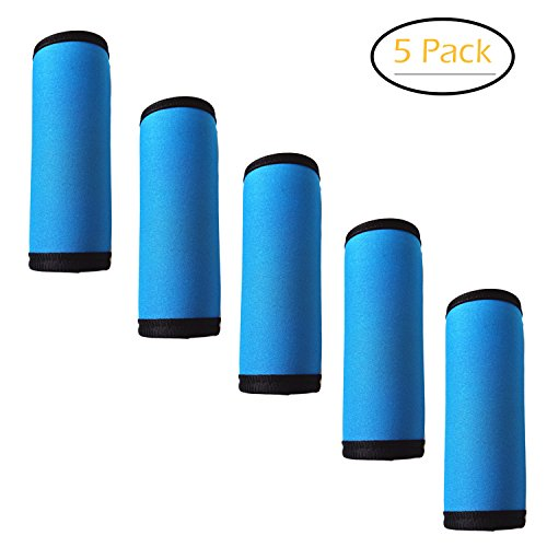 5 Pieces Luggage Handle Wrap Soft Neoprene Grip Cover for Travel Bag...