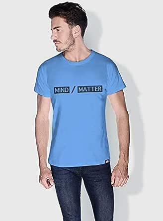 Creo Mind Matter Funny T-Shirts For Men - L, Blue