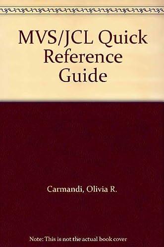 mvs jcl quick reference guide 9780471560517 computer science books rh amazon com JCL Seats JCL Seats