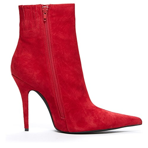 Jeffrey Campbell Vedette, Sexy Rode Suede Laars