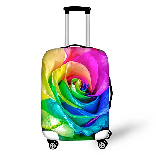 30' Luggage (FOR U DESIGNS 26-30 inch Beautiful Rose Floral Luggage Cover with Zipper)
