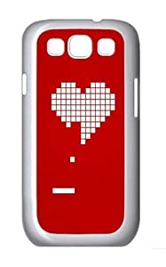 8 Bit Heart Valentines Day Custom Hard Back Case Samsung Galaxy S3 SIII I9300 Case Cover - Polycarbonate - White