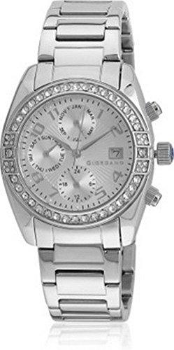 Giordano Analog Silver Dial Women's Watch – GX2657-66
