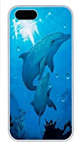 Dolphins Polycarbonate Hard Case Cover for iPhone 6 4.7 White
