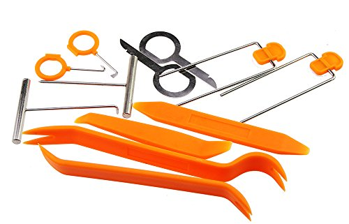 Stereo Plastic Panel Car Door Clip Panel Trim Dash Removal For Install Tools Kit Open Pry Tool ()