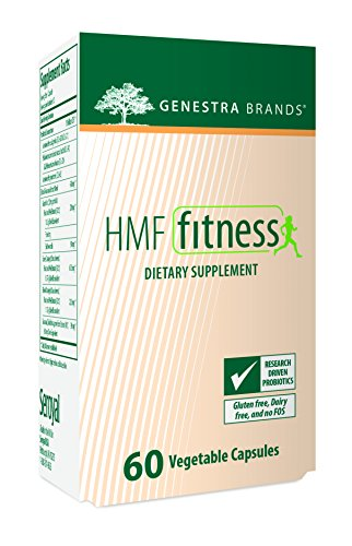 Genestra Brands - HMF Fitness - Shelf-Stable Probiotic Formula with Citrus and Guarana Extract for Healthy Weight Management* - 60 Capsules by Genestra Brands